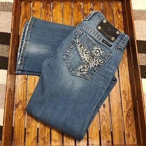 Miss Me Cross Boot Cut Jeans Size 28
